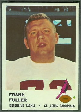 Frank Fuller 1961 Fleer football card