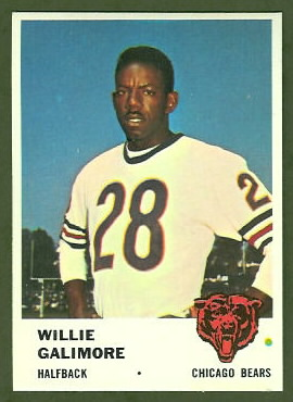 Willie Galimore 1961 Fleer football card