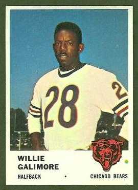 Willie Galimore 1961 Fleer football card