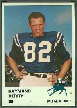 Raymond Berry 1961 Fleer football card