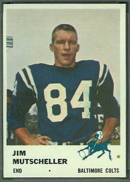 Jim Mutscheller 1961 Fleer football card