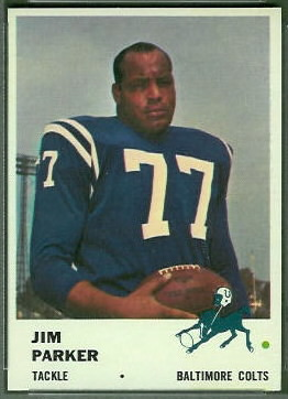 Jim Parker 1961 Fleer football card