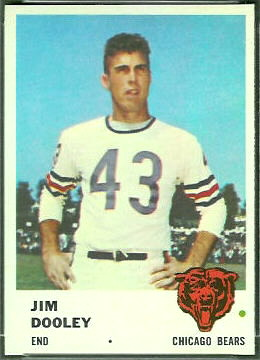Jim Dooley 1961 Fleer football card