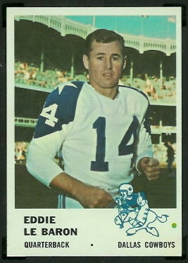 Eddie LeBaron 1961 Fleer football card