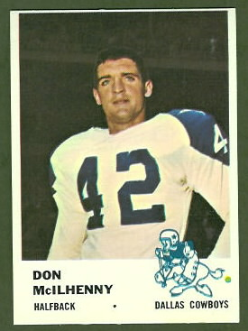 Don McIlhenny 1961 Fleer football card