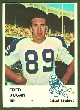 Fred Dugan 1961 Fleer football card
