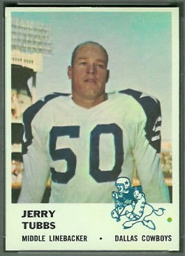 Jerry Tubbs 1961 Fleer football card