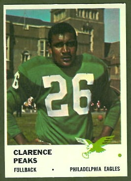 Clarence Peaks 1961 Fleer football card