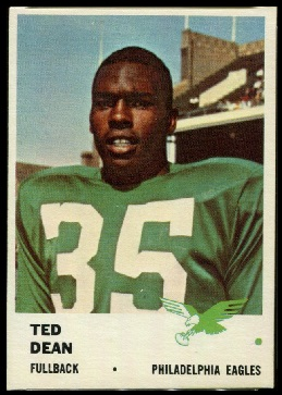Ted Dean 1961 Fleer football card