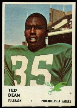Ted Dean 1961 Fleer football card