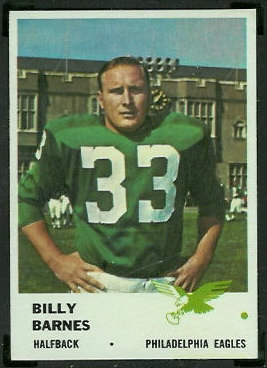 Bill Barnes 1961 Fleer football card