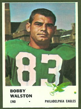 Bobby Walston 1961 Fleer football card