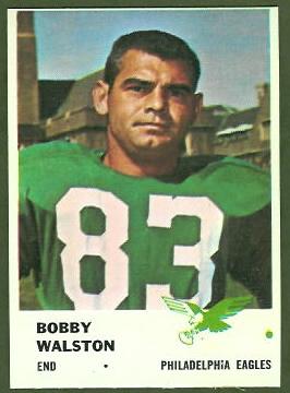Bobby Walston 1961 Fleer football card