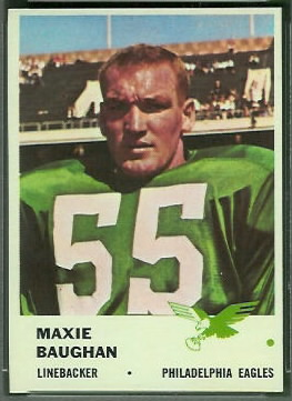 Maxie Baughan 1961 Fleer football card