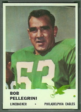 Bob Pellegrini 1961 Fleer football card