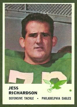 Jesse Richardson 1961 Fleer football card
