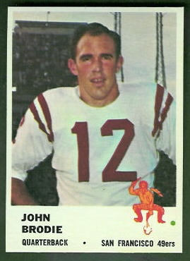 John Brodie 1961 Fleer football card