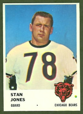 Stan Jones 1961 Fleer football card
