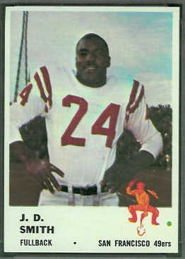 J.D. Smith 1961 Fleer football card