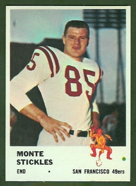 Monty Stickles 1961 Fleer football card