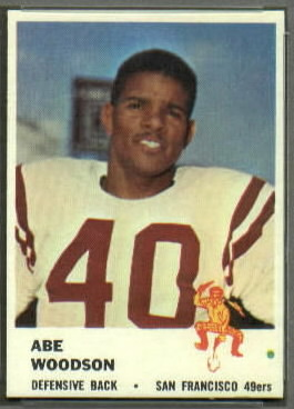 Abe Woodson 1961 Fleer football card