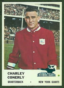 Charley Conerly 1961 Fleer football card