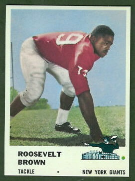 Roosevelt Brown 1961 Fleer football card