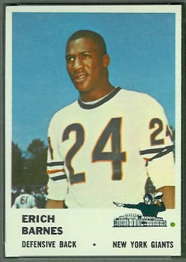 Erich Barnes 1961 Fleer football card