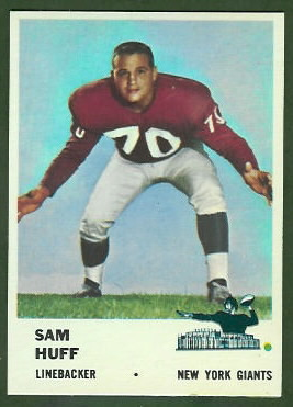 Sam Huff 1961 Fleer football card