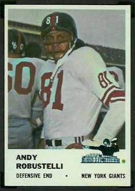 Andy Robustelli 1961 Fleer football card