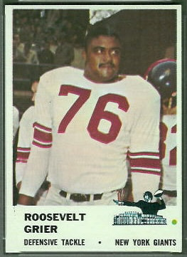 Roosevelt Grier 1961 Fleer football card