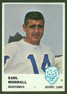 Earl Morrall 1961 Fleer football card