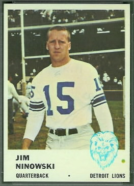 Jim Ninowski 1961 Fleer football card