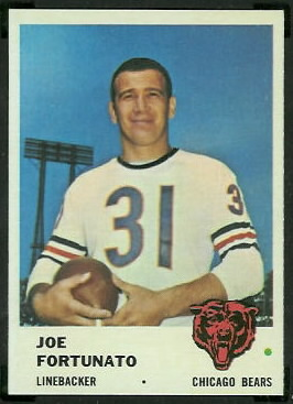 Joe Fortunato 1961 Fleer football card