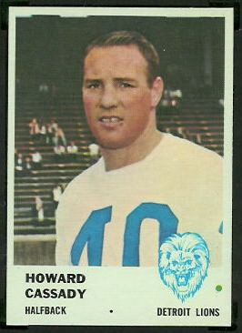 Howard Cassady 1961 Fleer football card