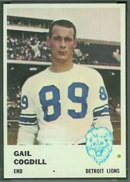 Gail Cogdill 1961 Fleer football card