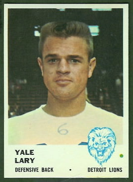 Yale Lary 1961 Fleer football card