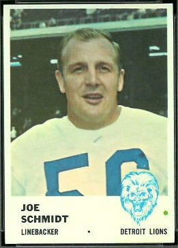 Joe Schmidt 1961 Fleer football card