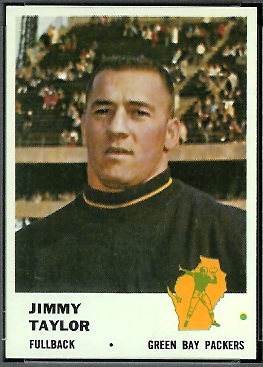 Jim Taylor 1961 Fleer football card