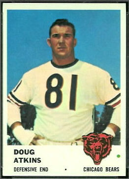 Doug Atkins 1961 Fleer football card