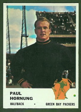 Paul Hornung 1961 Fleer football card