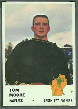 Tom Moore 1961 Fleer football card