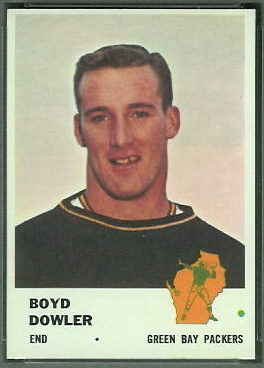 Boyd Dowler 1961 Fleer football card