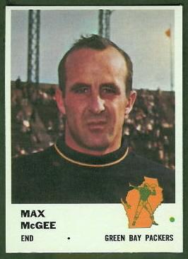 Max McGee 1961 Fleer football card