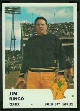 Jim Ringo 1961 Fleer football card