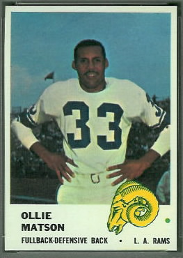 Ollie Matson 1961 Fleer football card