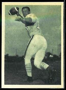 George Blanda 1961 Fleer Wallet Pictures football card