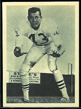 Jim Norton 1961 Fleer Wallet Pictures football card