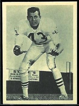 Jim Norton 1961 Fleer Wallet Pictures football card