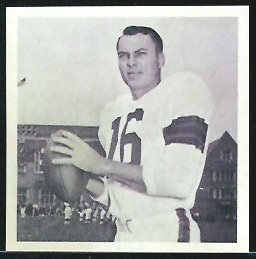 Milt Plum 1961 Fleer Wallet Pictures football card